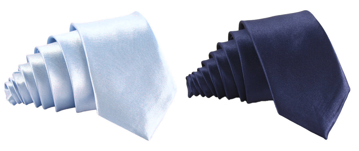 Světle modrá a tmavě modrá kravata