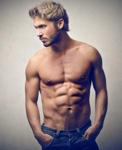 Mužský model se svaly